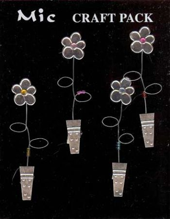 Silver Metal & Gems Flower Pot Toppers